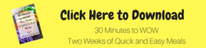 eBook, quick meals, easy meals, thirty minute dinners, healthy meals healthy quick meals