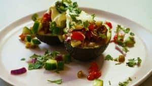 Avocados with Taco Meat, Avocado Tex-Mex, Healthy Avocado Taco