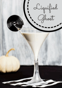 Halloween drink that is white and has a licorice taste