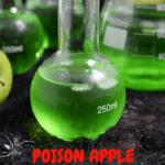 green apple flavored drink, green apple cocktail, Halloween green drink, Halloween green cocktail, green drink for Halloween party, drinks for Halloween party, party drinks, party cocktails, Halloween cocktails