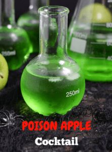 Halloween drink that is flavored with green apple