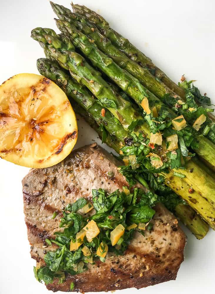 Mediterranean Grilled Tuna Steak with Preserved Lemon Gremolata
