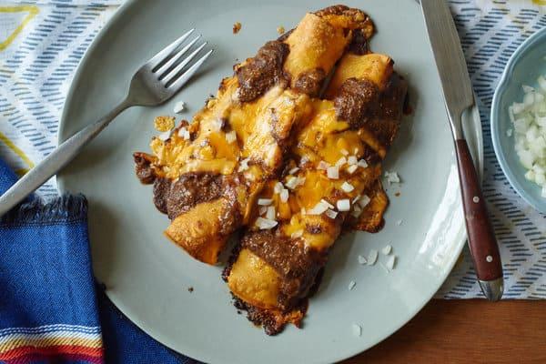Tex-Mex Enchiladas with Chili Gravy