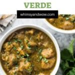 Award Winning Pork Chili Verde Recipe | pork chili verde | Pork Chili Verde is a delicious stew made of slow-cooked pork, peppers, tomatillos and spices.
