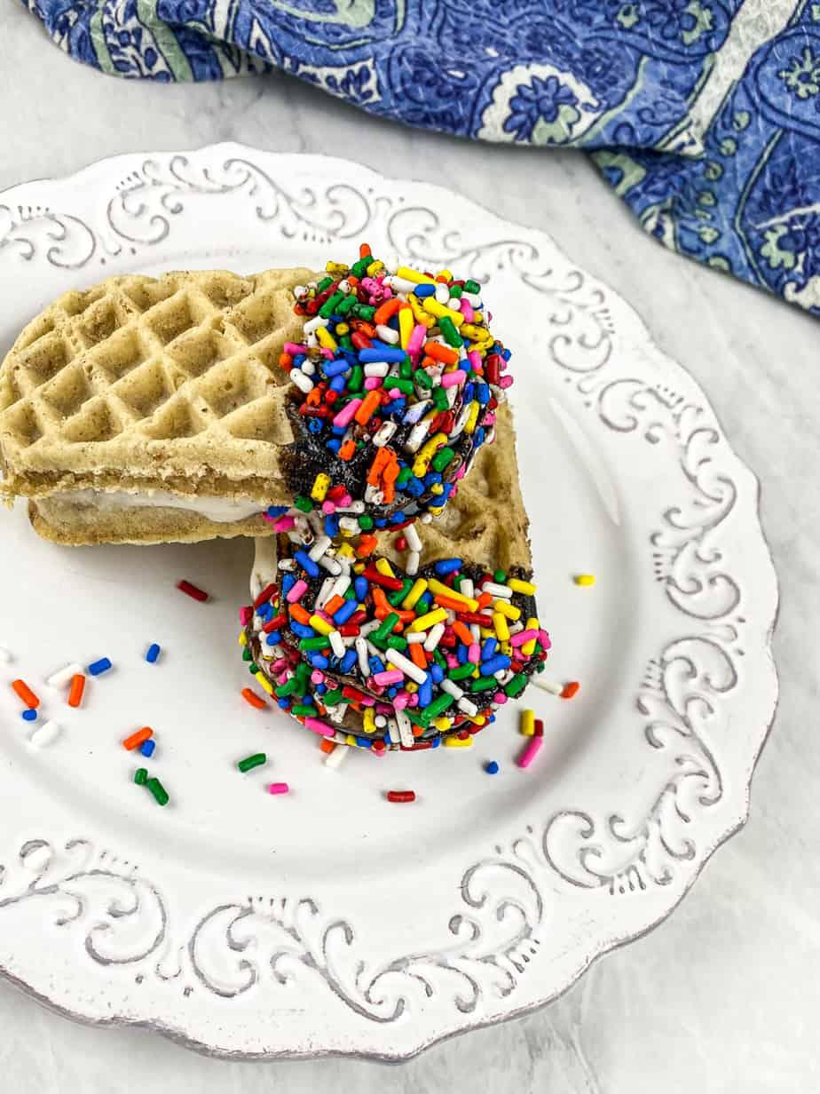 Homemade Waffle Ice Cream Sandwiches – Kid Friendly!