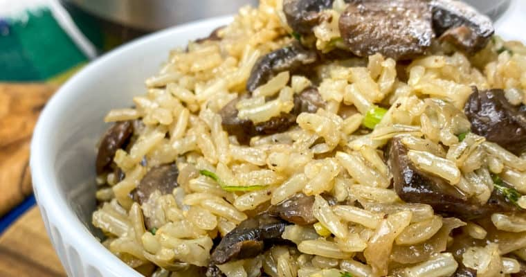 Instant Pot Mushroom Rice – Rustic and Savory Side