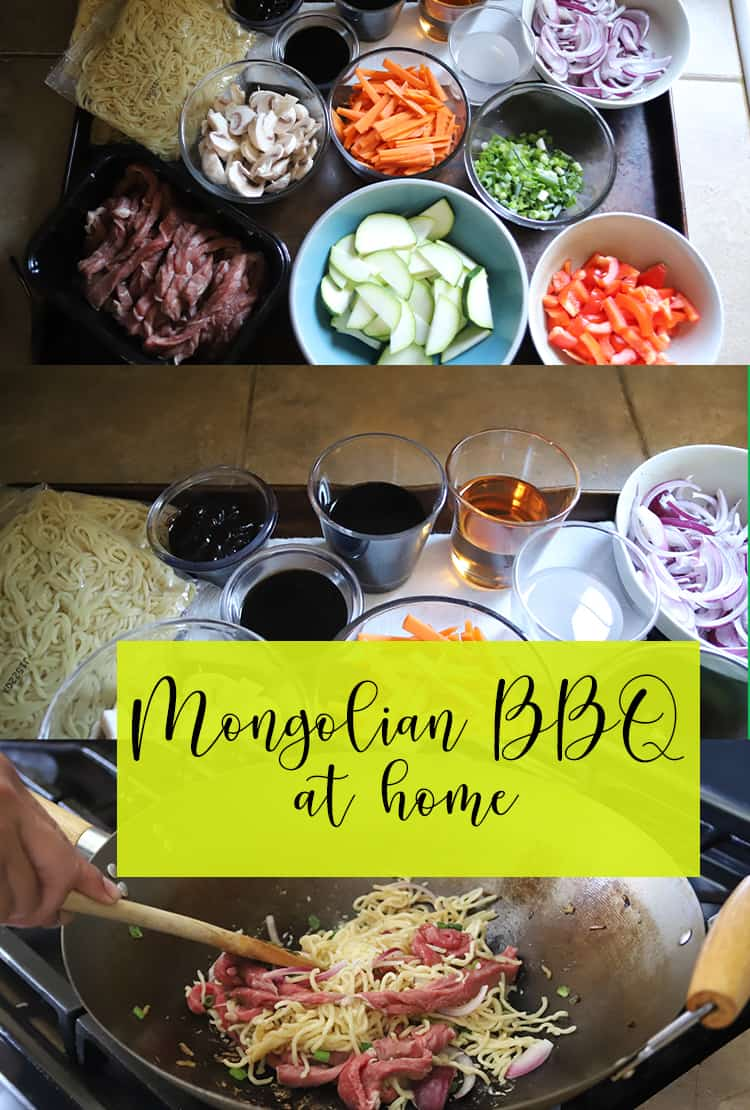 Mongolian BBQ at home